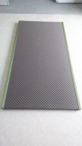 銀白市松03(栗色×胡桃色)の畳