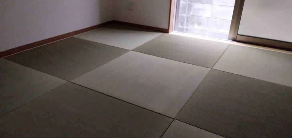 尼崎市のお客様に縁なし畳の新調を納品しました。