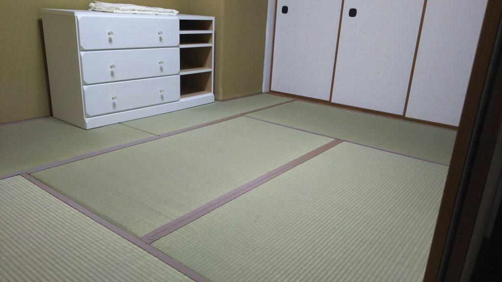 箕面市のマンションの畳の張替えをさせていただきました。