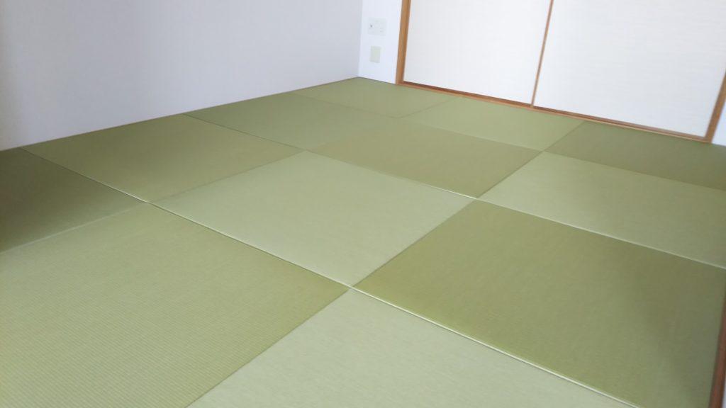 尼崎市のマンションに縁なし畳と襖を納品しました。