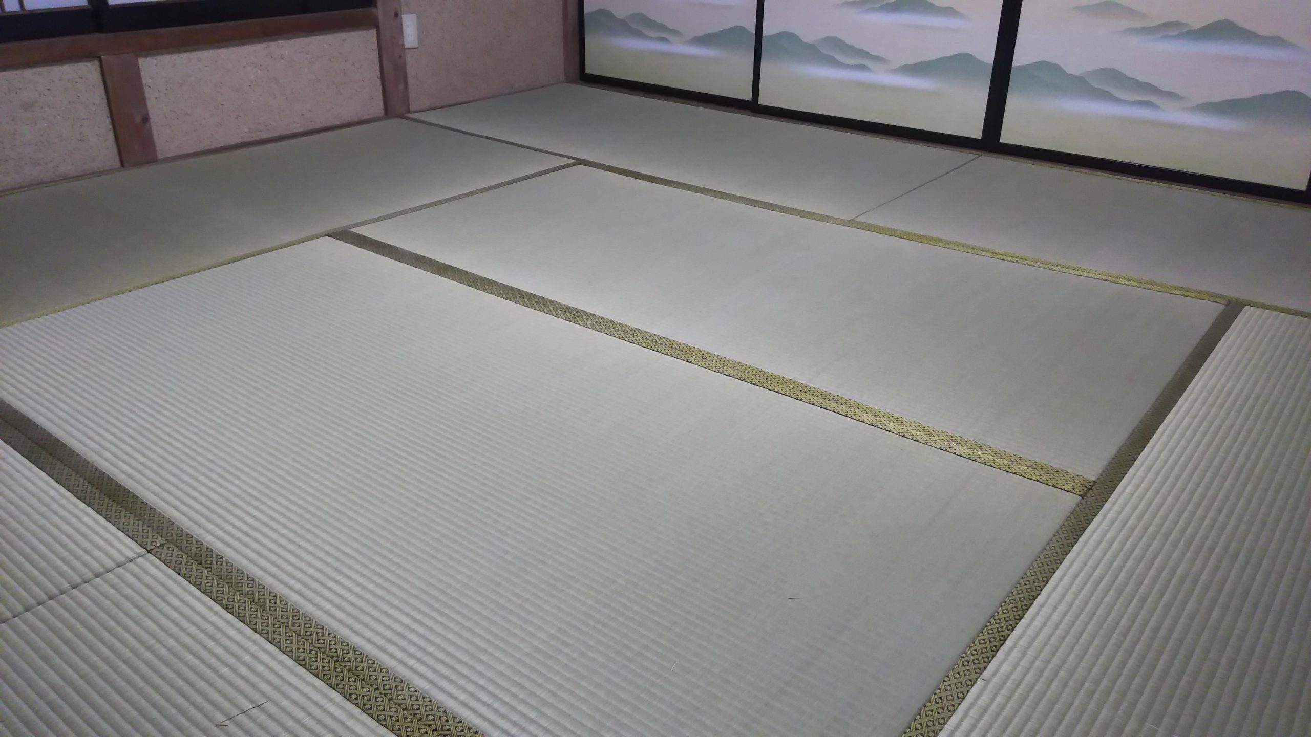 I様邸の畳と襖
