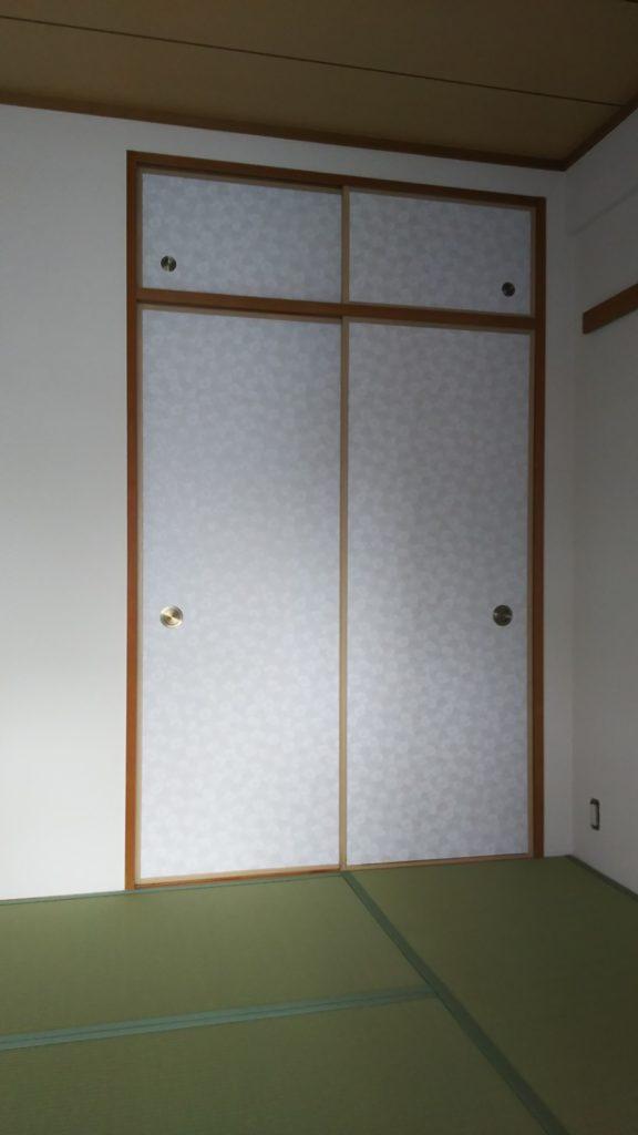 20210518吹田市のマンションの畳と襖の張替えをさせていただきました。