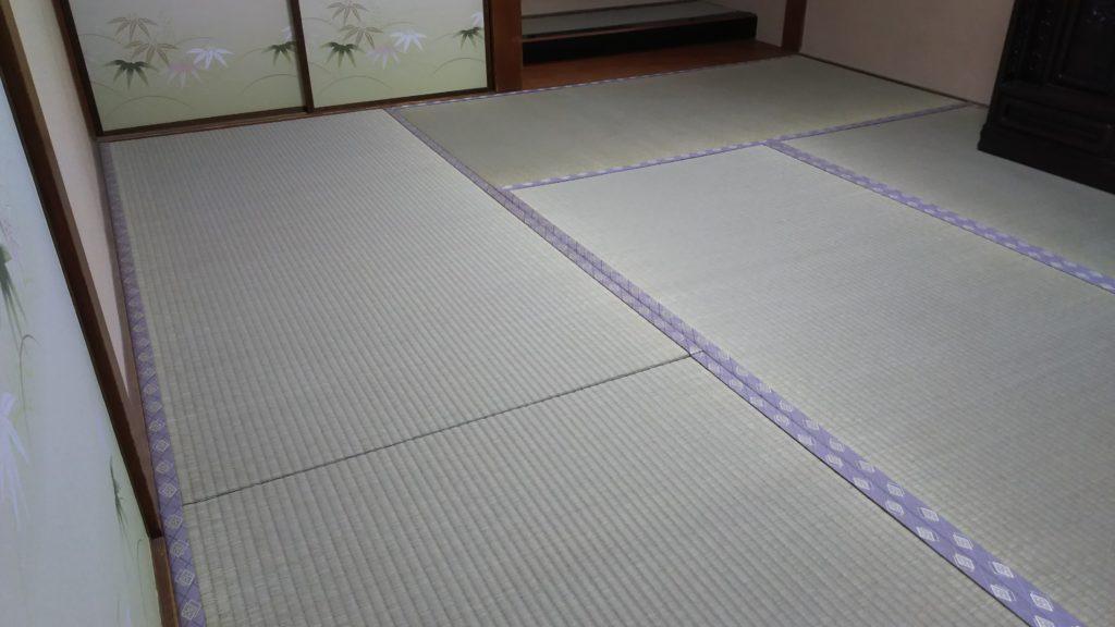 伊丹市の戸建のお客様の畳と床の間を新調させていただきました。