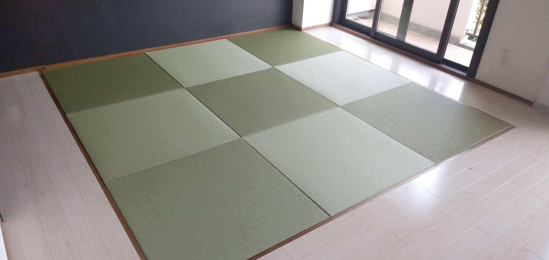 20210731宝塚市のマンションに縁なし畳を納品しました。